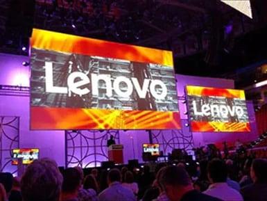 Lenovo Data Center events - Lenovo event booth