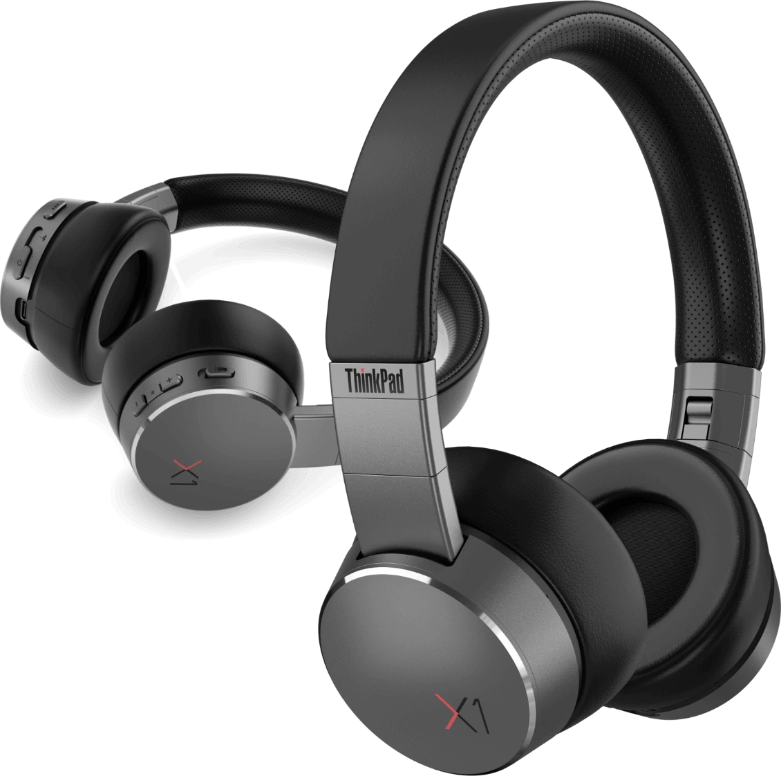 Lenovo ThinkPad X1 ANC headphones closeup view